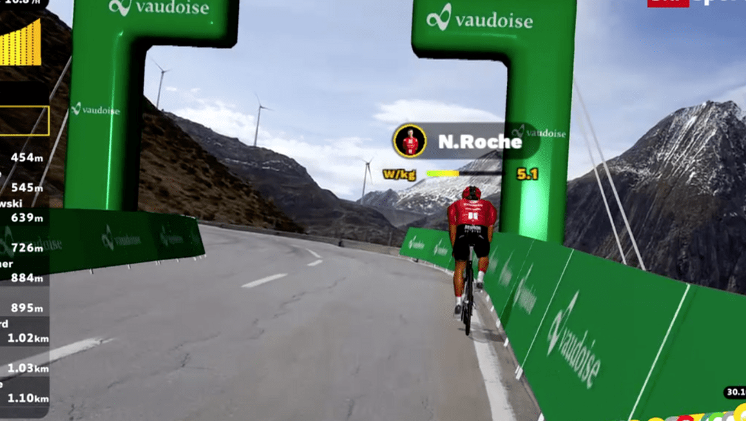 Première mondiale réussie pour le lancement de la série de courses numériques Pro-Cycling